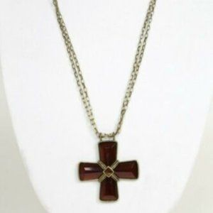 Robert Rose Large Cross Long Chain Necklace
